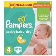Pampers Active Baby-Dry pelene, mega pakiranje, veličina 4 (Maxi) 8-14kg, 132/1 - 4