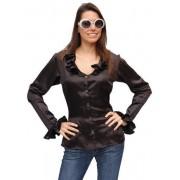 Disco blouse dames zwart
