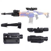 Lingxuinfo Upgraded Modified Attachments Set for nerf n-Strike Elite stryfe Blaster/nerf CS-18 n-Strike Elite rapidstrike/nerf n-Strike Modulus ECS-10