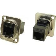 Adaptor RJ45 UTP, mufă mamă RJ45 8p8c mufă mamă RJ45 8p8c, Cliff CP30220M