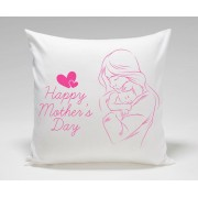 Beautiful Happy Mothers Day Plush Decorative Cushion