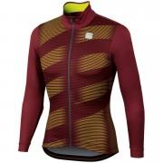 Sportful Moire Jersey - XXL - Ruby Wine/Yellow Fluo