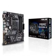 Asus Prime B450M-A moederbord socket AM4 (mATX, AMD AM4, DDR4-geheugen, native M.2, USB 3.1 Gen 2)