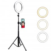 LATZZ T9 Ring Photography Fill Light with Tripod and Phone Bracket