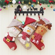 Christmas Candy Bag Stocking Santa Claus Sock Gift Bag Bauble Christmas Tree Ornaments Decor