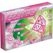 Set de constructie magnetic Geomag Pink 68 piese
