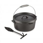 Klarstein Hotrod 45 öntöttvas fazék, barbecue fazék, 4,5 qt /4 liter, öntöttvas, fekete (COOK4-Hotrod-45)