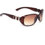 Eyeland Rectangular Sunglasses(Brown, Clear)