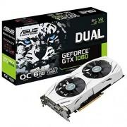 Asus Dual-GTX1060-6G Gaming Nvidia GeForce Grafische kaart, PCIe 3.0, 6 GB DDR5-geheugen, HDMI, DVI, DisplayPort, zwart