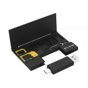 Kit Organizator pentru Cartele SIM, cititor card micro SD 2in1 si cheita Sim, Blow