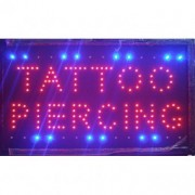 Reclama LED - TATTOO PIERCING -