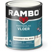 Rambo Pantserlak Vloer Dekkend Zijdeglans - 750 ml Zuiverwit Ral 9010