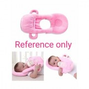 HomeStore-YEP 2 in 1 Velevt Stuff Baby Feeder with Neck Pillow Supporter for Kids (Age 0-6 Months Color Pink)