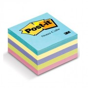 Cubo Post-It 2018 3x3 color pastel 430 hojas
