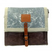 Licence 71195 Jumper Canvas Messenger Bag Beige LBF10927-BE