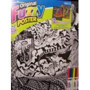 "Roseart Original Fuzzy 2 Poster Set ~ Dragons (Dragon Vs. Dragon + Dragon Vs. Knight; 16"" X 20"")"