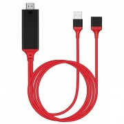 Cabo HDMI com Adaptador Compativel USB 2.0, IPhone, Tipo C