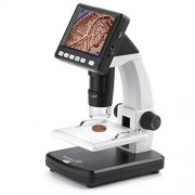 "Ivation Portable Digital HD LCD Microscope - Rechargeable 14MP Microscope w/220x Optical & 500x Digital Magnification, HD Sensor, 3.5"" LCD Screen, Adjustable Stage, Photo/Video Capture, HDMI & More"