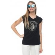 US Polo Assn T-shirt girocollo Nero Cotone Donna