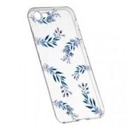 Husa Silicon Transparent Slim Blue Flowers 116 Apple iPhone 7 8