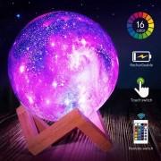 SilverHome 3D LED Galaxy lámpa ,15 cm, 16 szín, távirányítóval