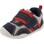 pediped Grip-N-Go Adrian Sneaker (Toddler),Navy/Grey/Red,21 EU (5.5 M US Toddler)