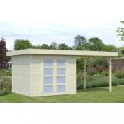 Cabaña de madera Lara 1 con porche de 487 x 250 cm. para Jardín