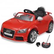 vidaXL Audi TT RS Elektromos kisautó távirányítóval piros