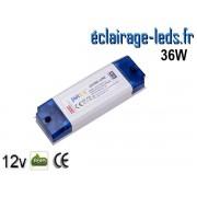 Transformateur LED Pour Intégration 12V DC 36W ref ti12-36