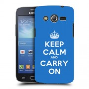 Husa Samsung Galaxy Core 2 G355 Silicon Gel Tpu Model Keep Calm Carry On