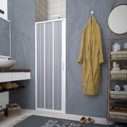 Porta Box doccia a soffietto per box doccia nicchia con apertura laterale in PVC 120