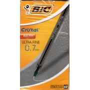 Bic Crystal Ultra Fine Black Box-60