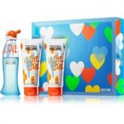 Moschino I Love Love coffret VI. Eau de Toilette 50 ml + gel de duche 100 ml + leite corporal 100 ml