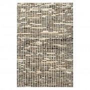 vidaXL Tapis à poils Cuir véritable 120x170 cm Noir/Blanc