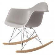 dominidesign © schommelstoel RAR Chroom frame schommelstoel PP lichtgrijs