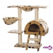 vidaXL Penjalica/ grebalica za mačke, plišana,bež 105 cm