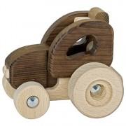 Jucarie lemn natur - Tractoras