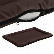 PremiumXL - [en.casa] Krevet / ležaj za pse - mačke - S rajfešusom - Oxford tkanina / PP-pamuk - 100 x 70 cm PremiumXL - [XL] - barna