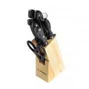 Set cutite inox cu suport din lemn Grunberg GR-2508A, 8 piese