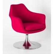 Replica Eero Saarinen Tulip Armchair - Upholstered Fibreglass - Red
