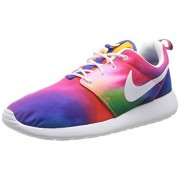 Nike Rosherun Print Mens Running Shoes 655206-518 Court Purple White-Total Crimson 12 M US