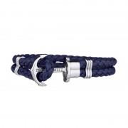 Paul Hewitt Anchor Bracelet Phrep Stainless Steel Navy Blue - XXXL PH-PH-L-S-N-XXXL