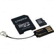 Комплект Kingston, 16GB, Class 10, microSD + SD адаптер + USB четец, Android, MBLY10G2/16GB