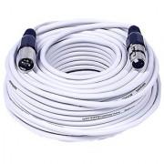 Seismic Audio SAXLX-100White Seismic Audio - White 100 Foot XLR Microphone Cable - 100' Microphone Cord Mic