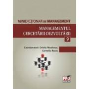 Minidictionar De Management 9 Managementul CercetariI-Dezvoltarii - Ovidiu Nicolescu