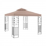 Kerti pavilon - 3 x 3 m - 180 g/m² - bézs