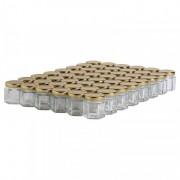 Lubéron Apiculture 48 pots verre hexagonaux 50g (47 ml) avec couvercle TO 43 - Couvercle - Doré