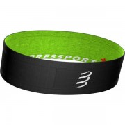 Compressport Free Belt - Female - Zwart / Groen - Grootte: Extra Small
