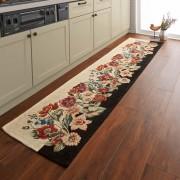 約55×270cm(イタリア製ジャカード織りキッチンマット〈ガーデン〉)