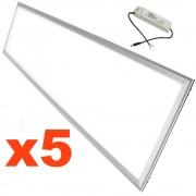 Silamp Dalle LED 120x30 Slim 48W (Pack de 5) - couleur eclairage : Blanc Neutre 4000K - 5500K